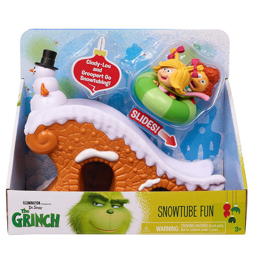 Dr. Seuss The Grinch Snowtube Fun Playset Toy [Cindy-Lou & Groopert]