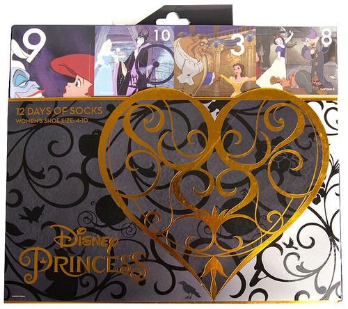 Disney Princess 12 Days of Socks 12-Pack [Womens Shoe Size 4 - 10]