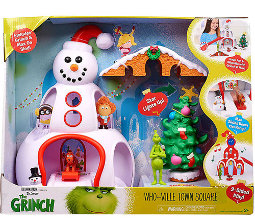 Dr. Seuss The Grinch Who-Ville Town Square 12-Inch Playset