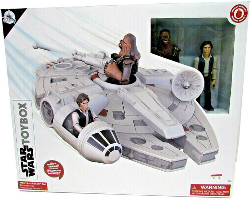 Disney Star Wars Toybox Millennium Falcon Exclusive Playset [Chewbacca & Han Solo]