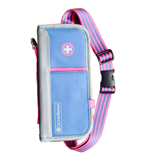 """AllerMates """"Pretty with Pink"""" Case [Includes Belt, ID Card & Travel Size Bottle]"""