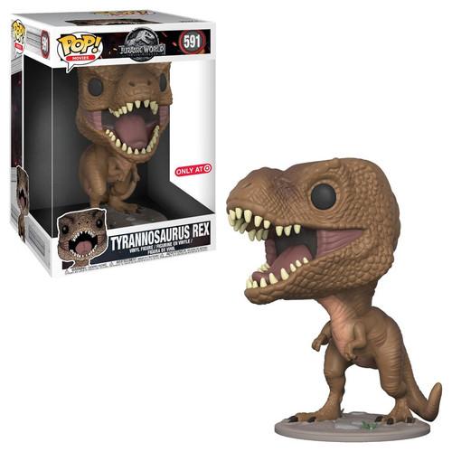 Funko Jurassic World Fallen Kingdom POP! Movies Tyrannosaurus Rex Exclusive 10-Inch Vinyl Figure #591 [Super-Size, Damaged Package]