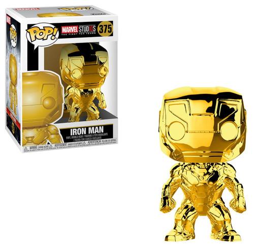 Funko Marvel Studios 10 POP! Marvel Iron Man Vinyl Bobble Head #375 [Gold Chrome, Damaged Package]
