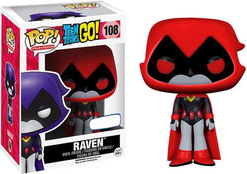 Funko Teen Titans Go! POP! TV Raven Exclusive Vinyl Figure #108 [Red, Damaged Package]