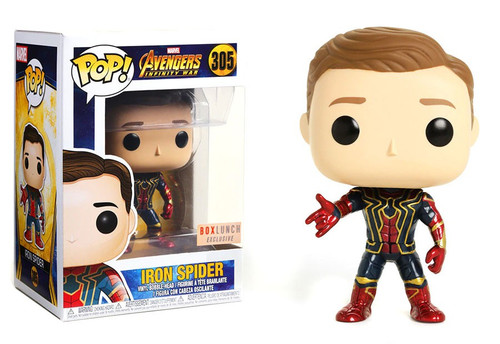 Funko Marvel Universe Avengers Infinity War POP! Marvel Iron Spider Exclusive Vinyl Figure #305 [Unmasked, Damaged Package]