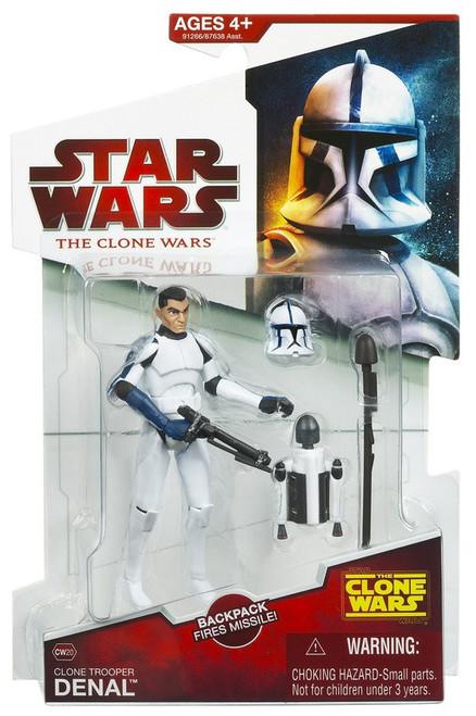 Star Wars The Clone Wars 2009 Clone Trooper Denal Action Figure CW20