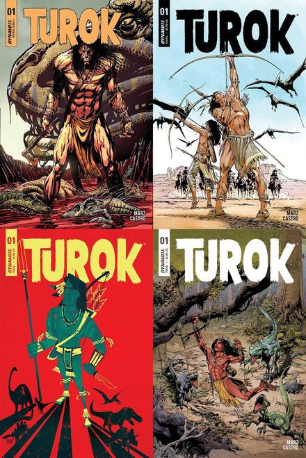 Dynamite Entertainment Turok Lot of Covers A-D Comic Books #1