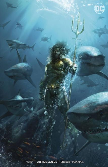 DC Justice League #11 Drowned Earth Comic Book [Francesco Mattina Variant Cover]