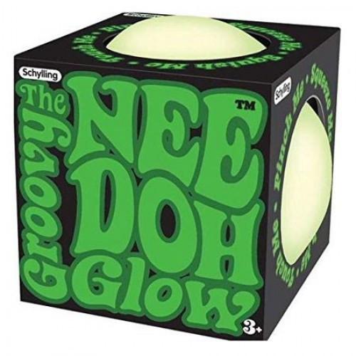 NeeDoh The Groovy Glob GLOW IN THE DARK 2.5-Inch Small Stress Ball
