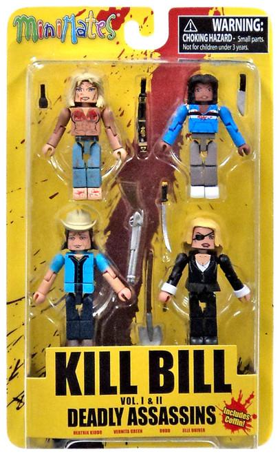 Kill Bill Deadly Vipers Minimates 2-Inch Minifigure 4-Pack