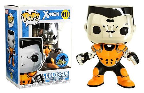 Funko X-Men POP! Marvel Colossus Exclusive Vinyl Bobble Head #411 [Chrome, Orange & Black]