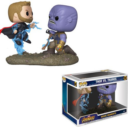 Funko Avengers Infinity War POP! Marvel Thor vs Thanos Vinyl Bobble Head 2-Pack [Movie Moments]