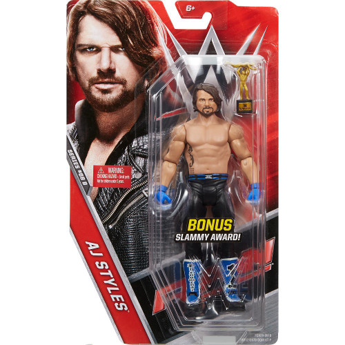 WWE Wrestling Series 68 AJ Styles Action Figure [Bonus Slammy Award, Damaged Package]