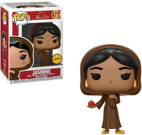 Funko Aladdin POP! Disney Jasmine Vinyl Figure #477 [In Disguise, With Apple, Chase Animated Version]