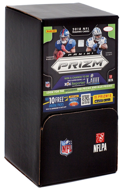 NFL Panini 2018 Prizm Football Trading Card GRAVITY Feed Box [36 Packs]
