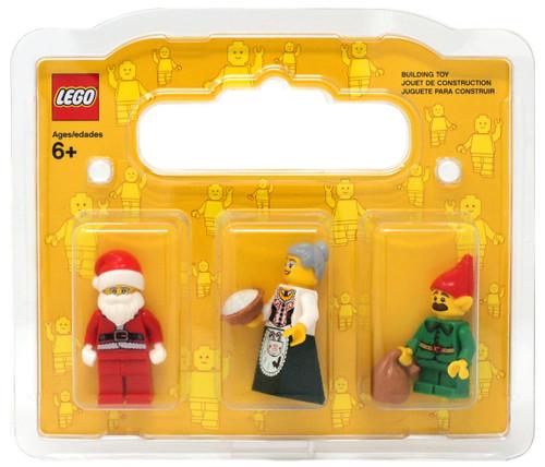 LEGO Santa, Mrs. Claus & Elf with Mustache Minifigure 3-Pack