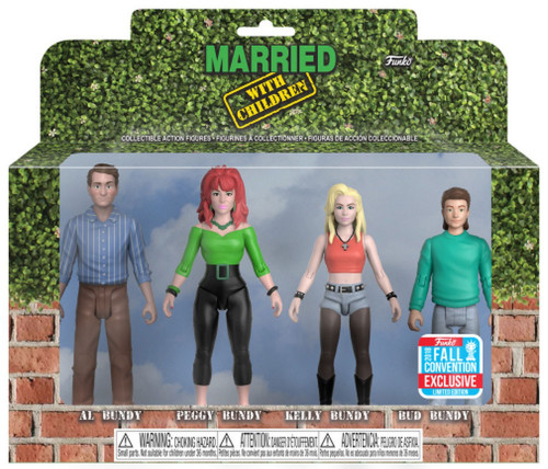 Funko Married with Children Al, Peggy Kelly & Bud Bundy Exclusive Action Figure 4-Pack
