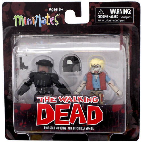 The Walking Dead Minimates Series 5 Riot Gear Michonne & Hitchhiker Zombie Minifigure 2-Pack