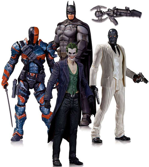 Arkham Origins Batman, The Joker, Black Mask & Deathstroke Action Figure 4-Pack