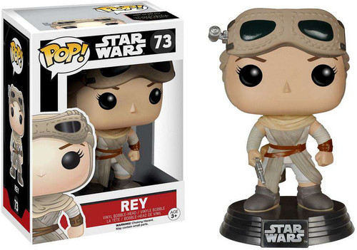 Funko The Force Awakens POP! Star Wars Rey Exclusive Vinyl Bobble Head #73
