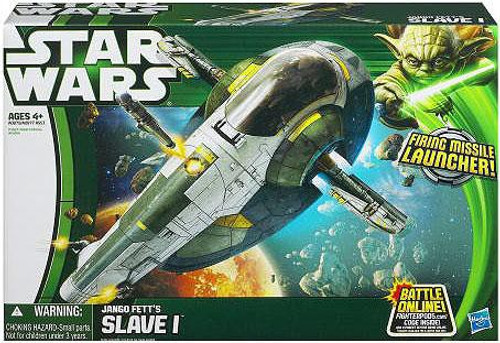 Star Wars Attack of the Clones Vehicles 2013 Jango Fett's Slave 1 Action Figure Vehicle