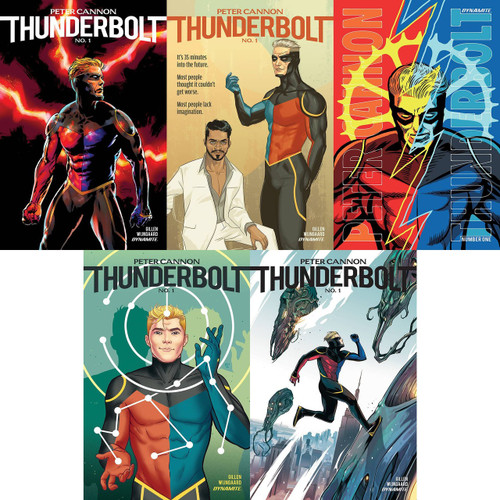 Dynamite Entertainment Peter Cannon Thunderbolt #1 Lot of Covers A-E Comic Book