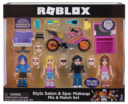 Roblox Mix & Match Stylz Salon & Spa: Makeup 3-Inch Figure 4-Pack Set