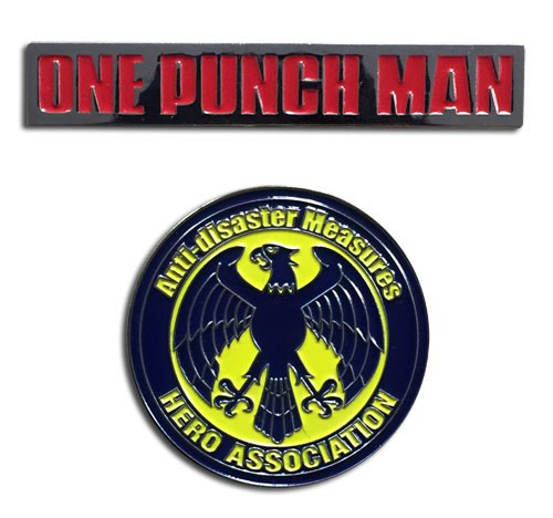 One Punch Man Hero Association & OPM Pin Set