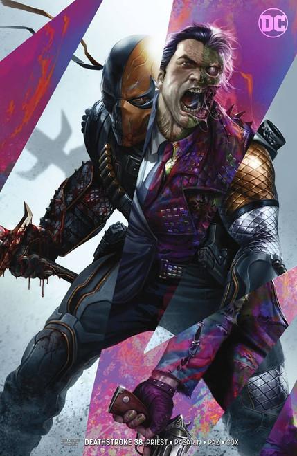 DC Deathstroke #38 Arkham Comic Book [Francesco Mattina Variant Cover]