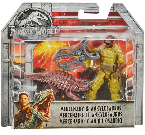 Jurassic World Fallen Kingdom Mercenary & Ankylosaurus Action Figure