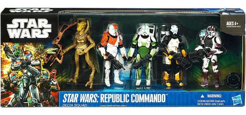Star Wars Expanded Universe Boxed Sets 2011 Republic Commando Delta Squad Exclusive Action Figure Set