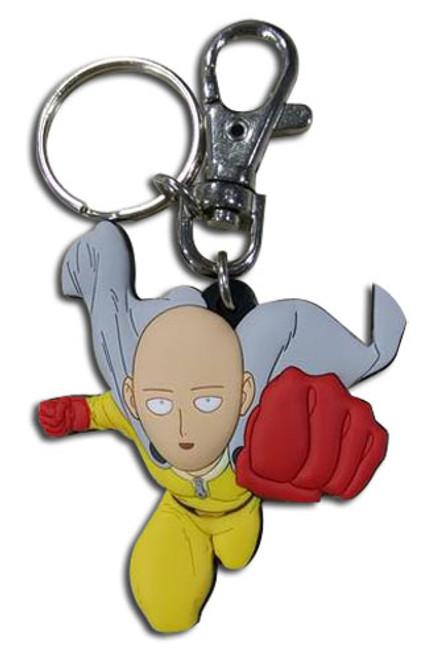 One Punch Man Saitama Punching PVC Keychain