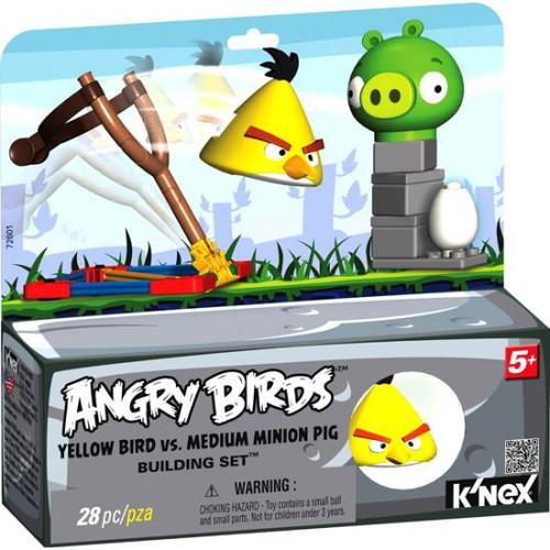 K'NEX Angry Birds Yellow Bird vs. Medium Minion Pig Set #72601 [Damaged Package]