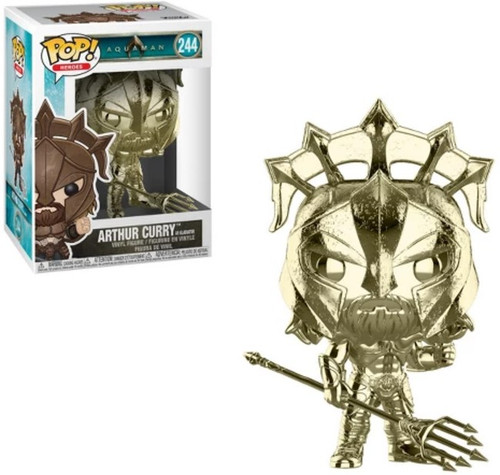 Funko DC Aquaman Movie POP! Heroes Arthur Curry as Gladiator Exclusive Vinyl Figure [Gold Chrome]
