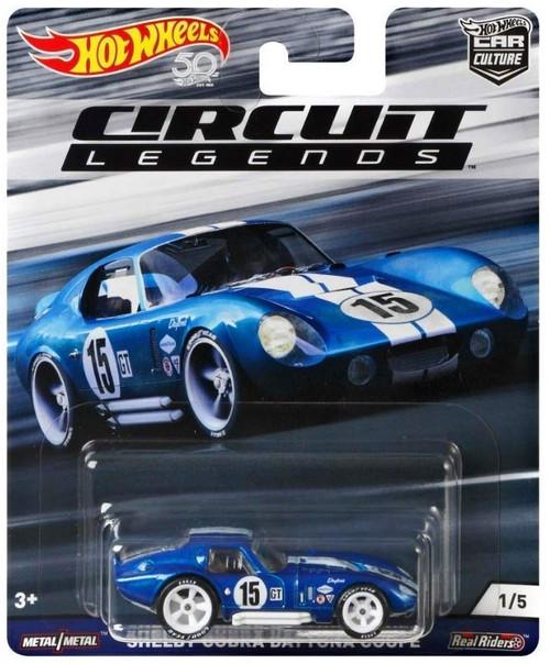 Hot Wheels Circuit Legends Shelby Cobra Daytona Coupe Diecast Car #1/5