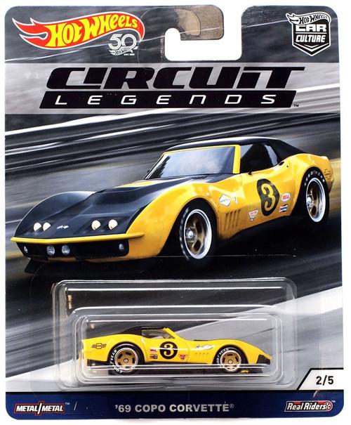 Hot Wheels Circuit Legends '69 Copo Corvette Diecast Car #2/5