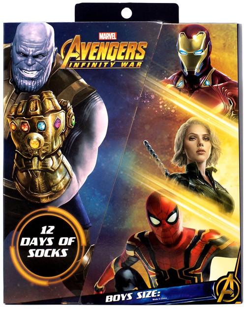 Marvel Avengers Infinity War 12 Days of Socks 12-Pack [Boys Small]