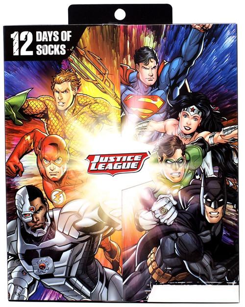 DC Comics Justice League 12 Days of Socks 12-Pack [Boys Size: Medium]