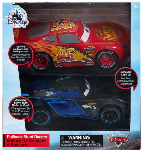Disney / Pixar Cars Cars 3 Pullback Stunt Racer Lightning McQueen & Jackson Storm Exclusive Vehicle 2-Pack