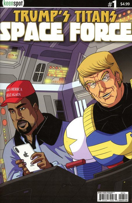 Keenspot Entertainment Trumps Titans Space Force #1 Comic Book [Damaged Kanye Calrissian Variant Cover]
