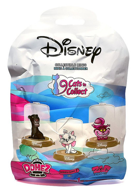 Domez Disney 9 Cats to Collect Mystery Pack [1 RANDOM Figure]
