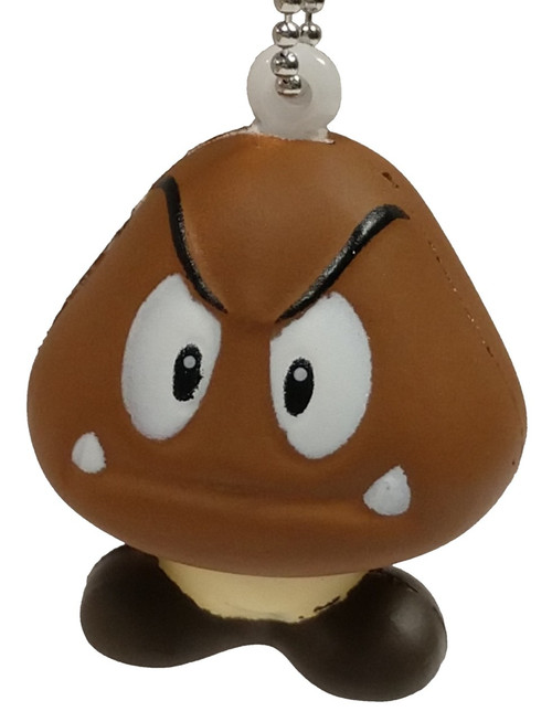 Super Mario Soft-Squeeze Keychain Series 2 Goomba [Loose]