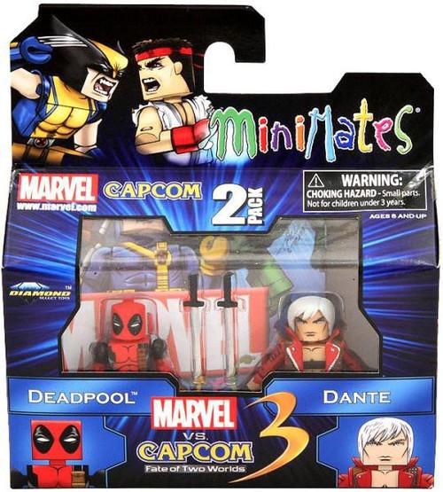 Marvel vs Capcom 3 Minimates Series 1 Deadpool vs. Dante Minifigure 2-Pack