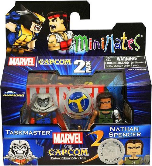 Marvel vs Capcom 3 Minimates Series 2 Taskmaster vs. Nathaniel Spencer Exclusive Minifigure 2-Pack