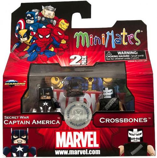 Marvel Minimates Series 42 Secret Wars Captain America & Crossbones Exclusive Minifigure 2-Pack