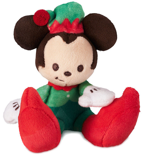 Disney Tiny Big Feet Mickey Mouse Exclusive 4-Inch Micro Plush [Holiday]