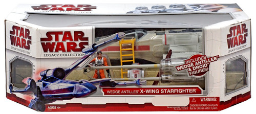 Star Wars A New Hope Legacy Collection X-Wing Fighter with Wedge Antilles & Droid Exclusive Action Figure Set