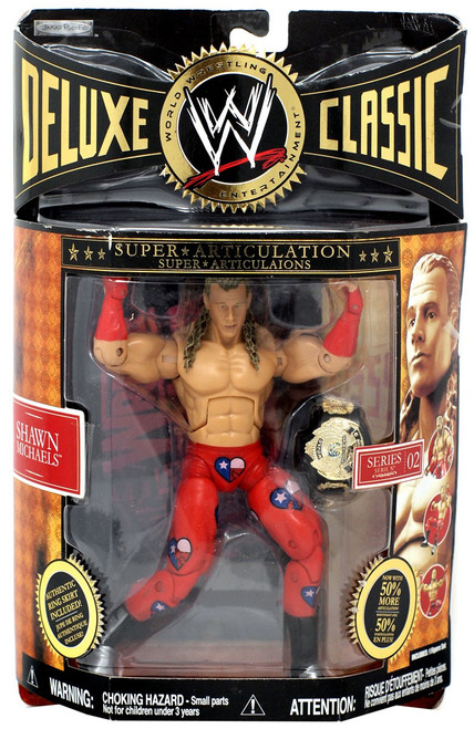 WWE Wrestling Deluxe Classic Superstars Series 2 Shawn Michaels Action Figure