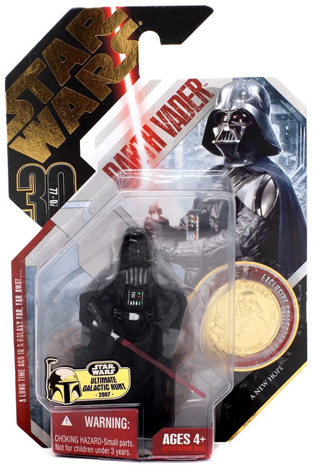 Star Wars A New Hope 30th Anniversary 2007 Wave 3 Ultimate Galactic Hunt Darth Vader Action Figure [Obi-Wan Duel]
