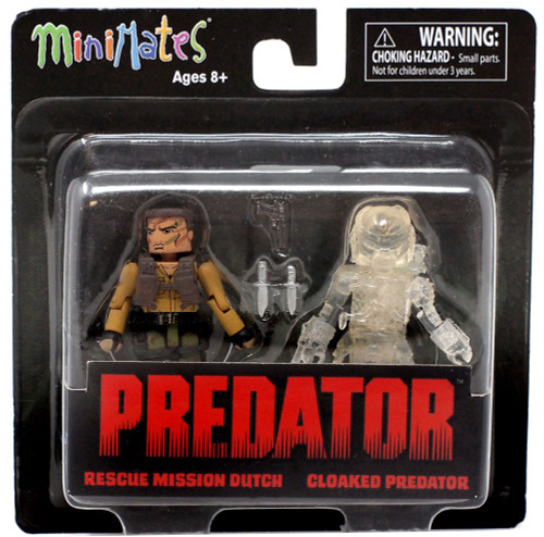 Minimates Series 2 Rescue Mission Dutch & Cloaked Predator 2-Inch Minifigure 2-Pack